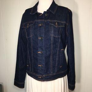 OLD NAVY Dark Wash Blue Denim Jacket ~ Large